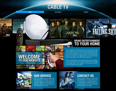 TV Cable Services - Web Template