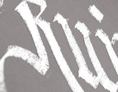 Ruiz - Calligraphy with chalk