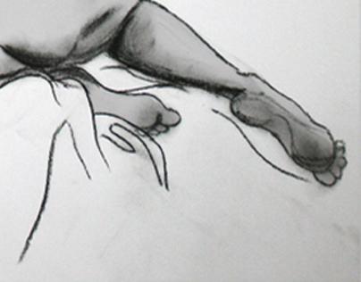 AKT AUF DEM SOFA drawing