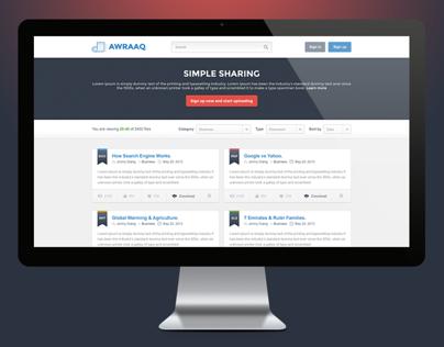 Awraaq Document Sharing Website