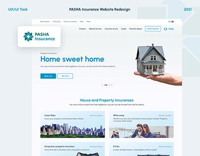 PASHA Insurance Website Redesign - UX/UI