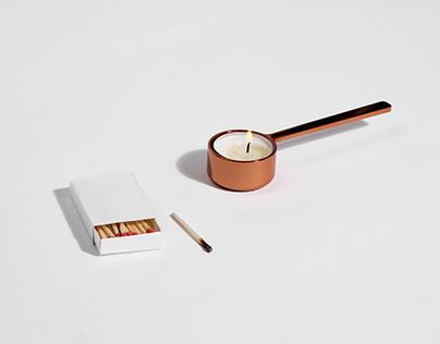 Spoon candleholder