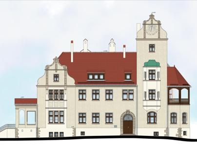 Zakład Niesłyszących we Wrocławiu - Pałac i nowy obiekt