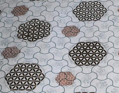 Islamic art inspired print