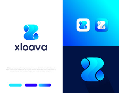 X letter logo design for concept Xloava (unused)