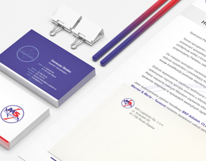 MS Logistyka - site redesign + new stationery