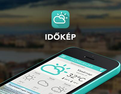 Időkép - weather app redesign