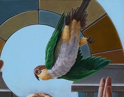"""The Encounter"", Oil on Canvas, 30"" x 24"", 2013"