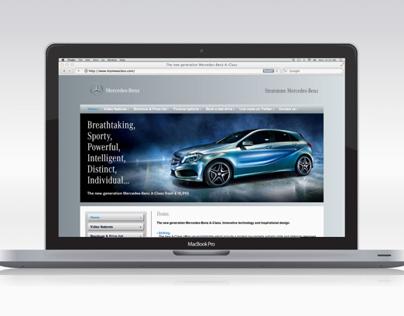 'Stratstone Mercedes-Benz' A-Class Website