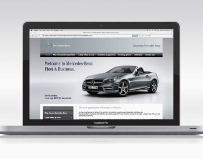 'Stratstone Mercedes-Benz' Fleet & Business Website