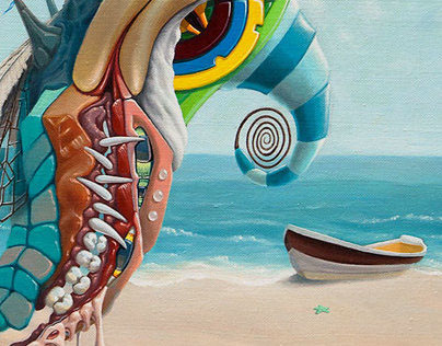 """""""Trip to the Beach"""", Oil on Canvas, 20"""" x 16"""", 2013"""