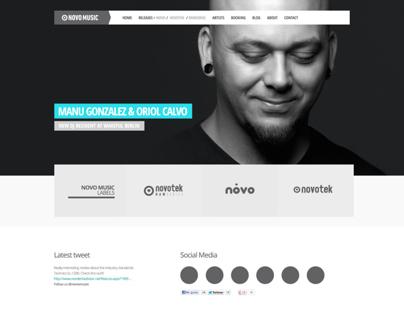 Novo Music website re-design