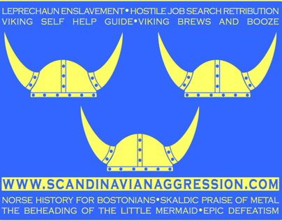 Scandinavian Aggression Promotional Sticker