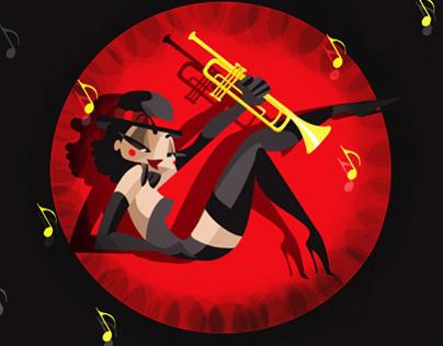 Burlesque /Pin Up Illustration/