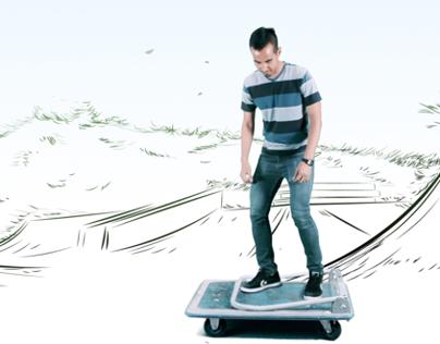 Kick(cart)flip