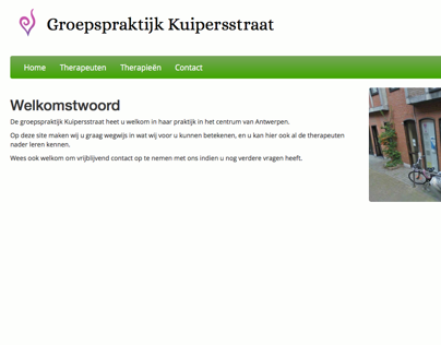 Website design & development - Groepspraktijk Kuiperstr