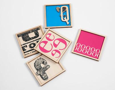 Alphabet Coasters