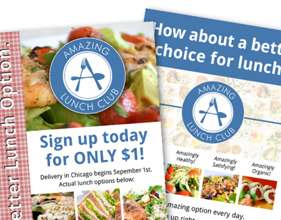 Amazing Lunch Club - Logo, Website, Flyers