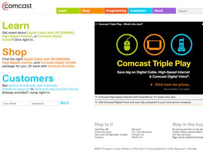 Comcast.com Redesign