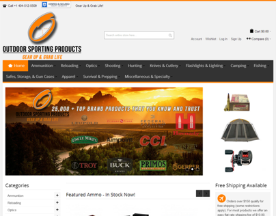 25,000 SKU Magento eCommerce Outdoor Sporting Products