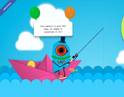 My first pure CSS portfolio website