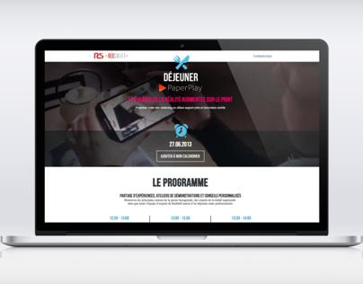 PaperPlay Responsive Website