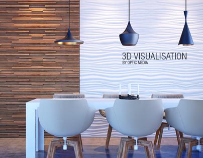 3D interior | 3D Wall Panel Presentation