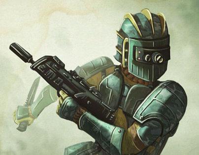 Wargame illustration -SAGA Tactics