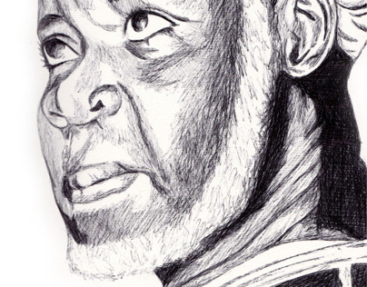 sheikh ibrahim nyass Biro Pen Drawing