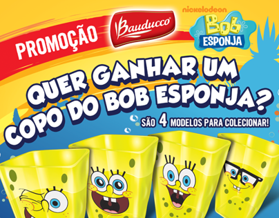 POP Bauducco Copo do Bob Esponja