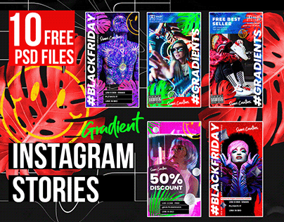 Gradient Instagram Stories (Free PSD)