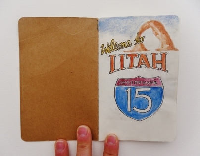 Utah Road-trip mini sketchbook