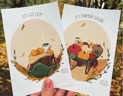 Autumn cards