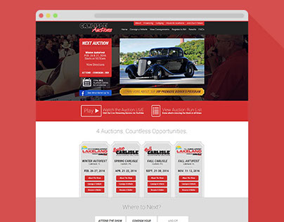 Automotive Auction Website Design