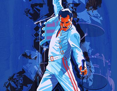 Freddie Mercury Poster Illustration