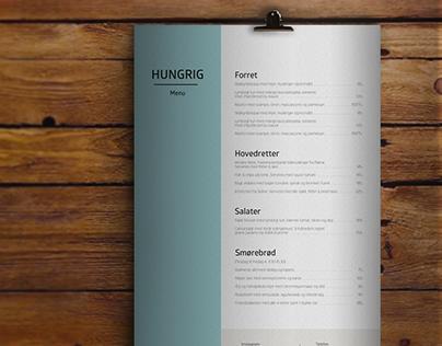 Hungrig - Menucard