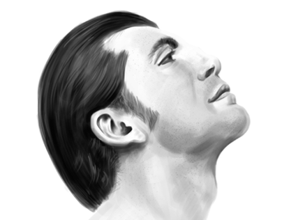 Speed painting portraits based on photos