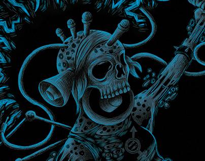 Illustration t-shirt   Band: Blessed Noise