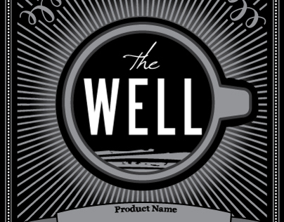 The Well Coffeehouse Coffee Bag Label