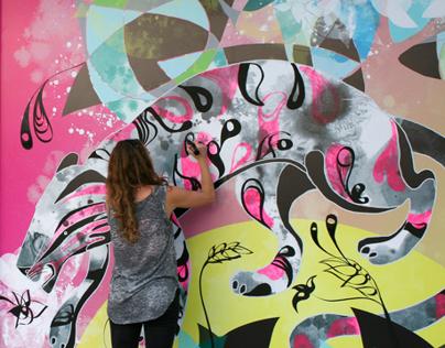 Bristol Shopping Quarter Mural