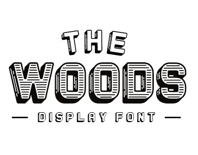 The Woods - Display Font