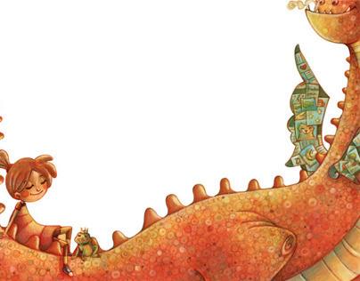 Espaluflina y el bibliosaurio.
