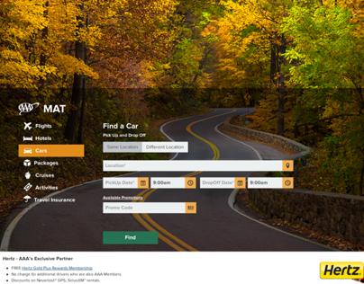 Car Rental Flat / Responsive Search Page