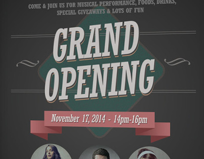 Grand Opening Flyers Vol.01