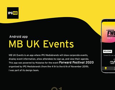 """App """"MB UK Events"""""""