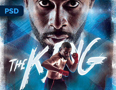 Boxing Poster - PSD Template