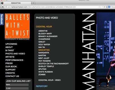 balletswithatwist.com website programming