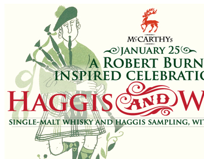 """Haggis and Whisky"" Promotion"
