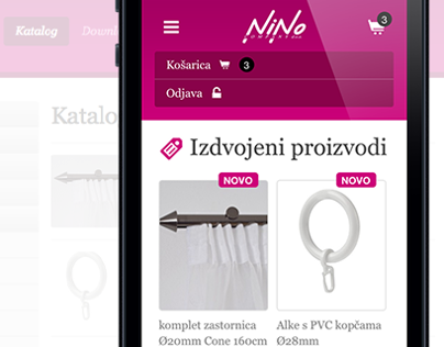 Nino Company, Responsive webshop built on WordPress