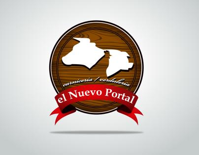 """Identidad Corporativa """"El Nuevo Portal"""". Carniceria."""